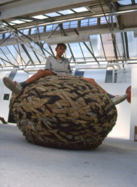 Carpet Rock - found carpet, 140 x 140 x 120cm, 1993